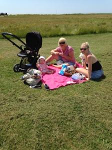 Amelia enjoying a picnic