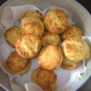 Homemade cheese scones another lunch time fave!