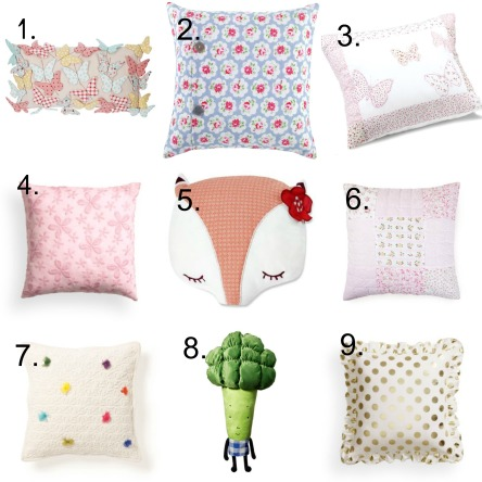 Cushions with numbers