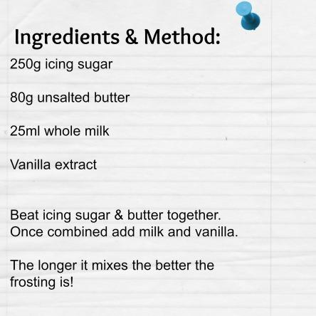 Vanilla Frosting Ingredients & Method